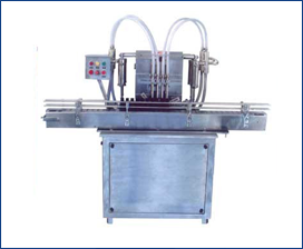 FULLY AUTOMATIC FOUR HEAD LIQUID FILLING MACHINE