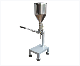 SEMI AUTOMATIC VOLUMETRIC PASTE/ CREAM FILLE MACHINE